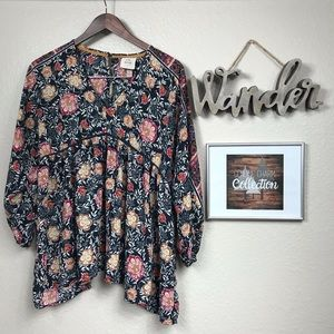 Knox Rose Floral Long Sleeve Blouse